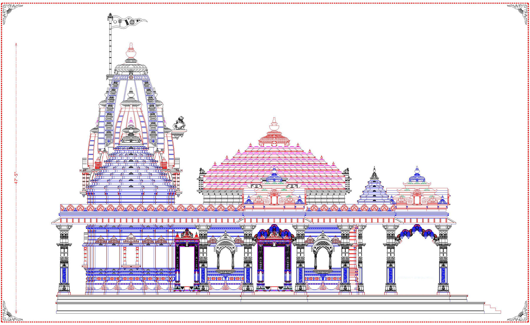 Kamiyala Hanumanji New Temple Design - Architecturen